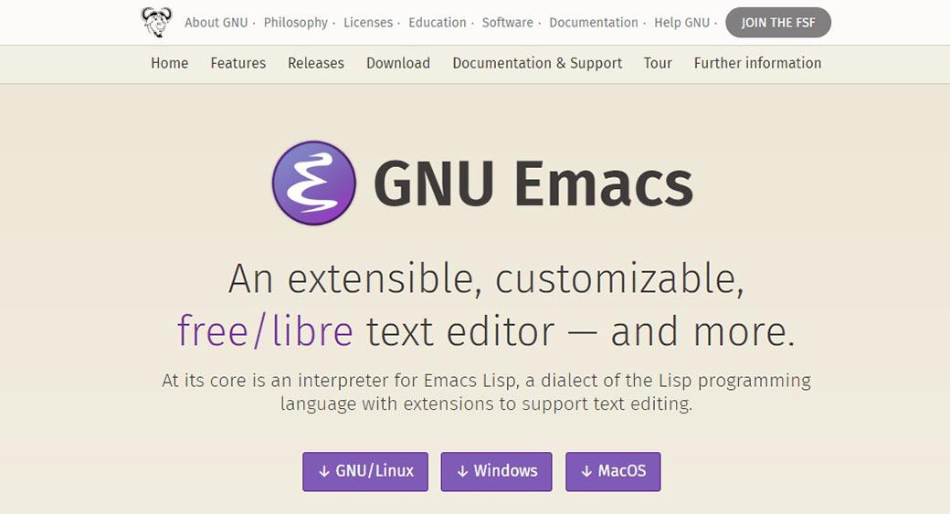 GNU Emacs app