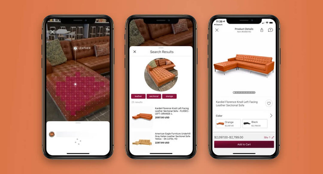 visual search - example of machine learning