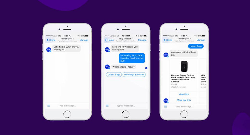 machine learning in eCommerce - chatbots