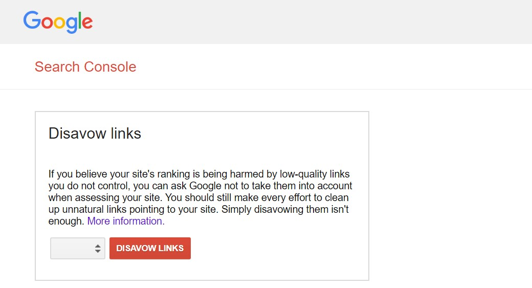 disavow links and negative seo
