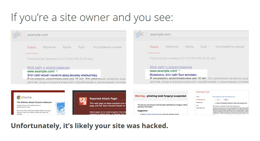 examples of hacked websites