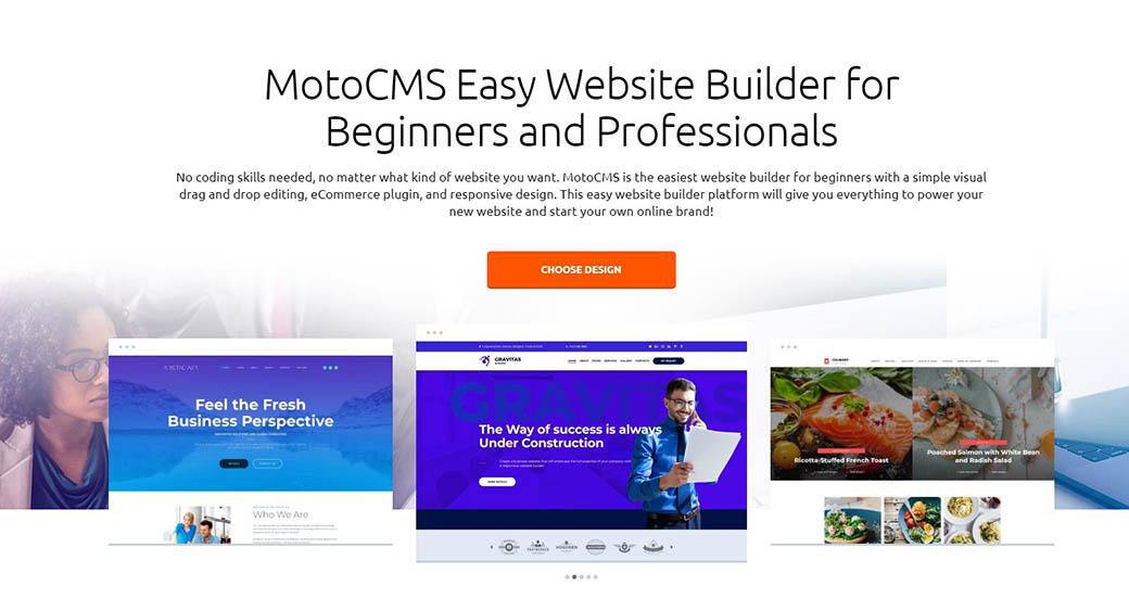 MotoCMS builder for web design on Mac