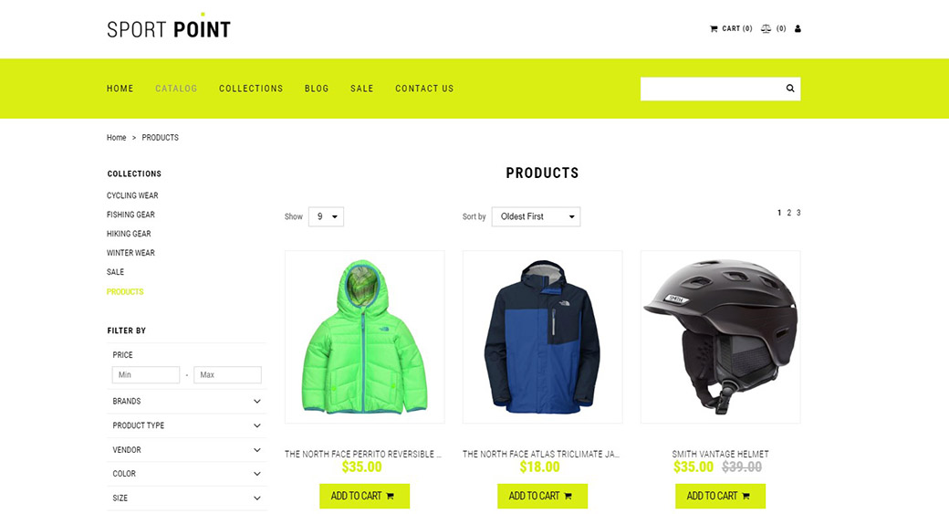 Content management for eCommerce - products