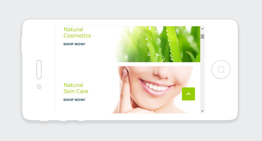 responsive site design - natural products