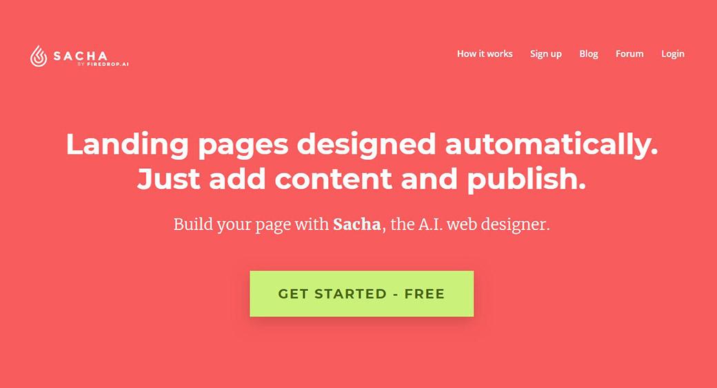 AI in web development - Sacha web page builder
