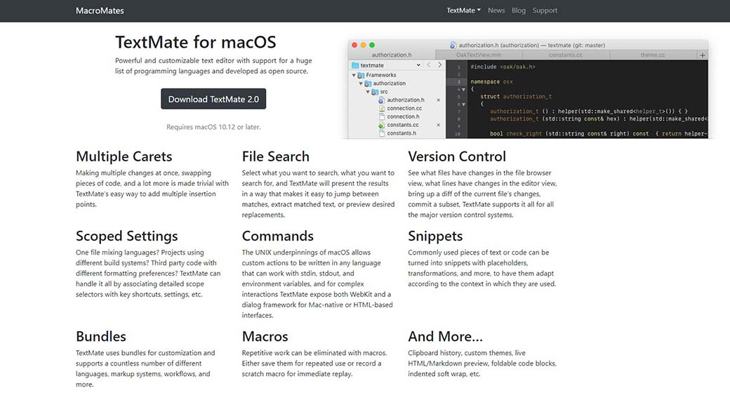 TextMate for web design on Mac