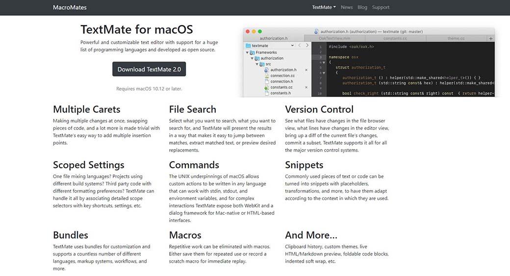 TextMate for web design on Mac