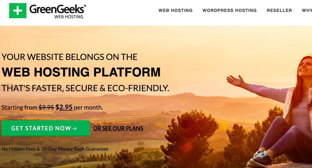 PPC Landing Page Green Geeks hosting