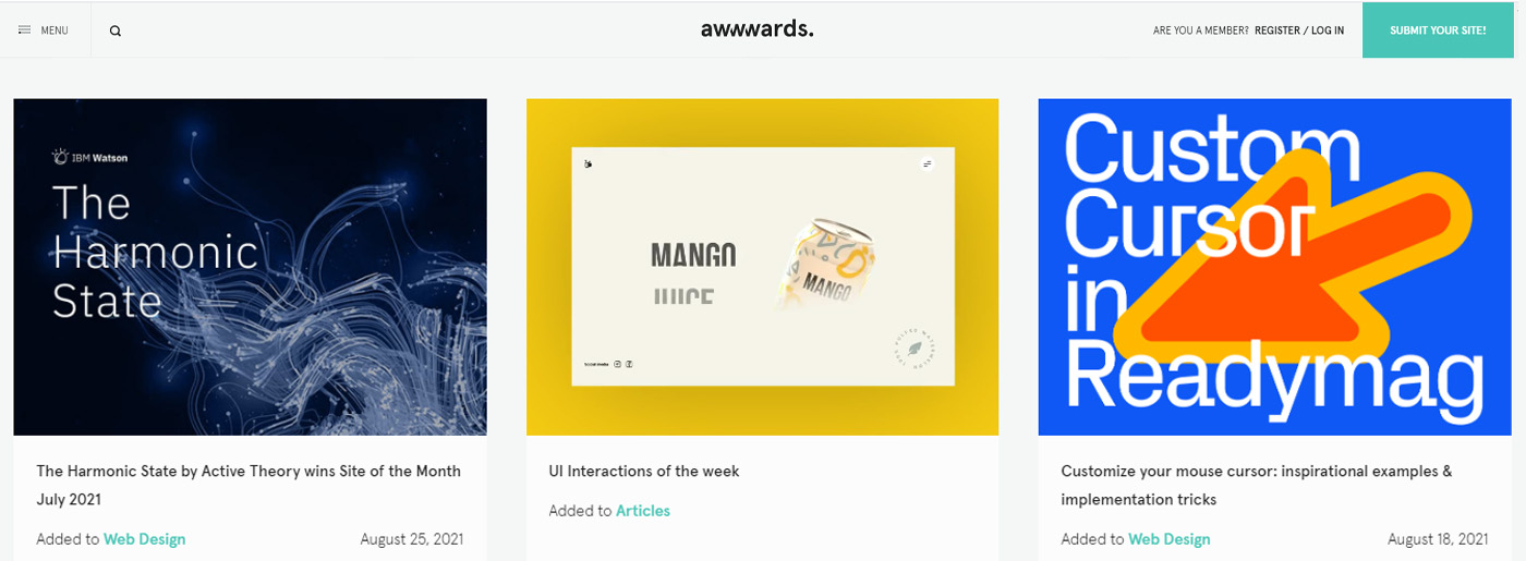 Awwwards Site for Fresh Web Design Ideas