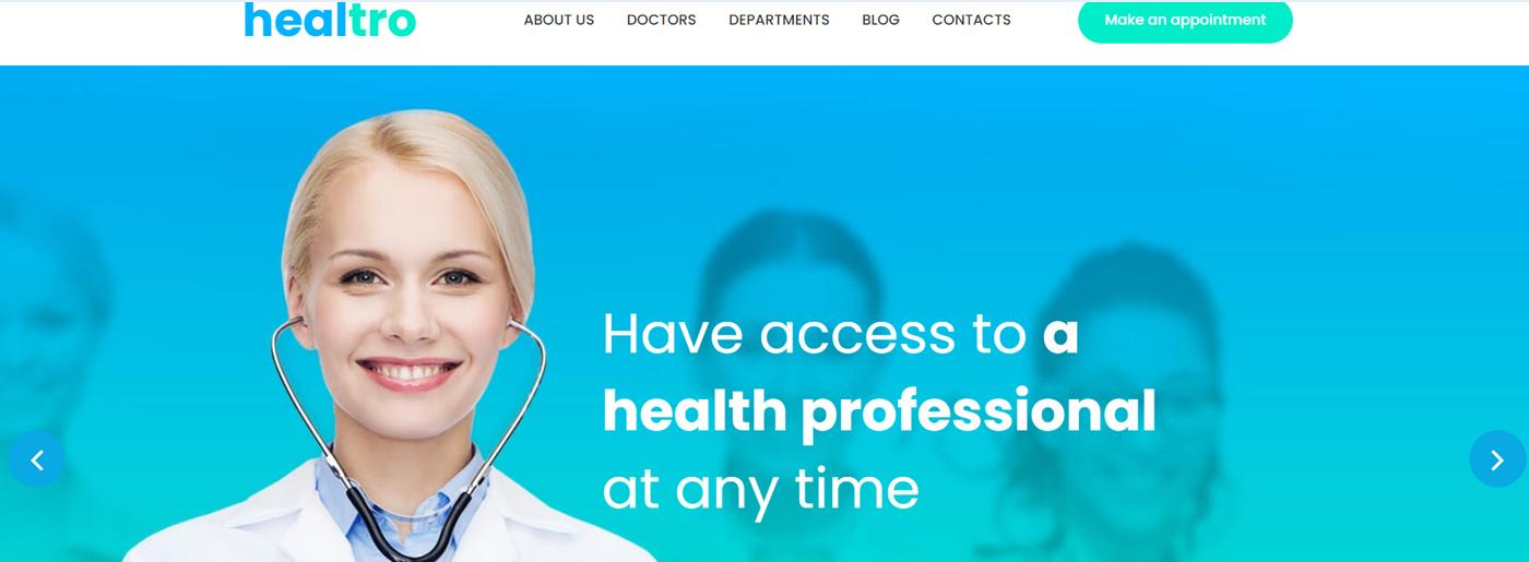 Blue Medical Website Colors