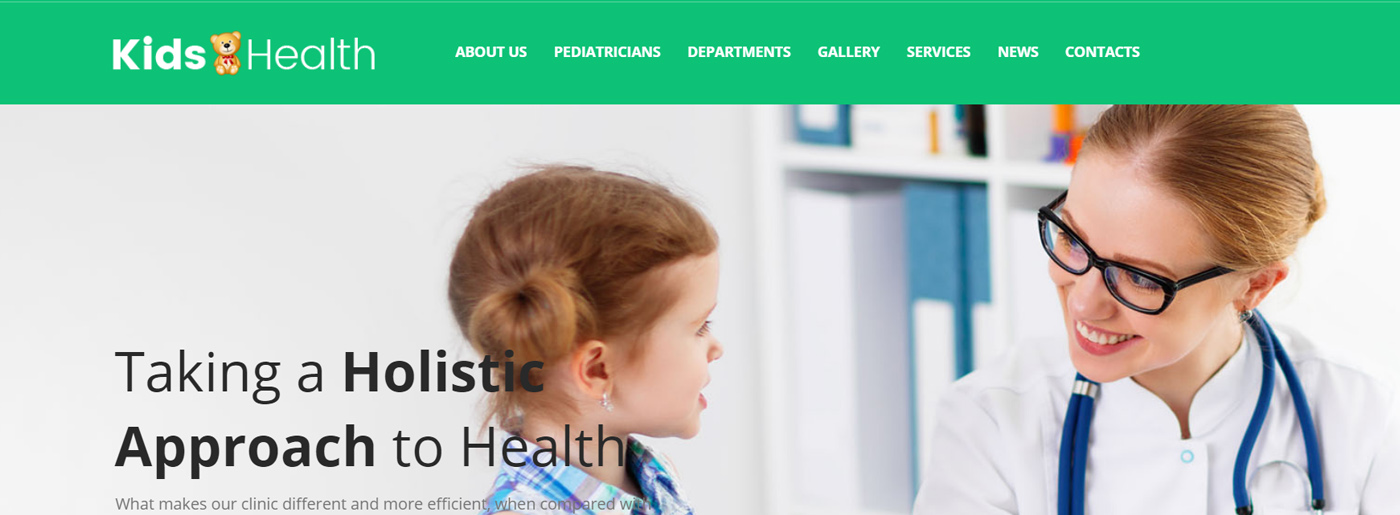 Bright Medical Website Colors - Yellow and Orange