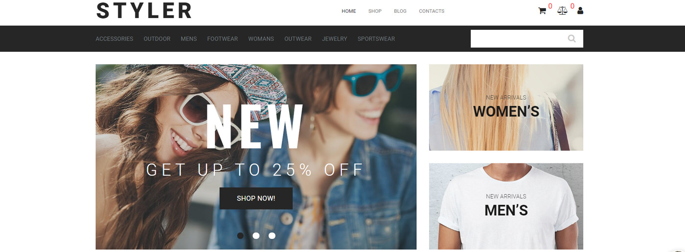 Clothing Shop Website Template