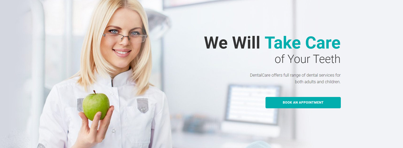 Dental Clinic Website Template for Dentistry Services