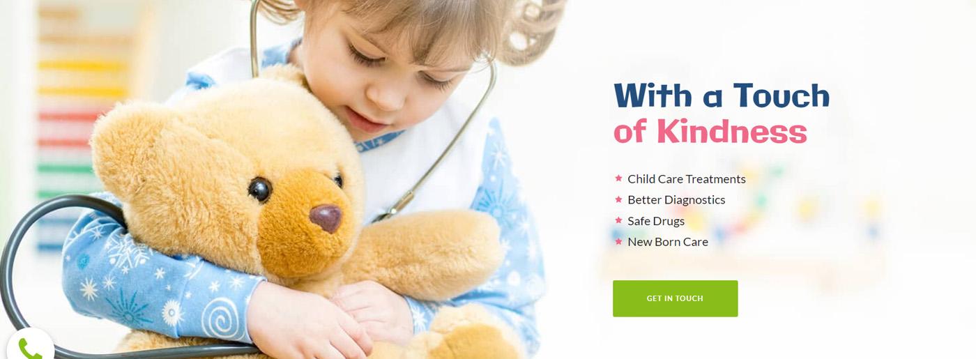 Pediatrician Website Design for Kids Clinic