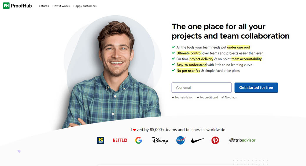ProofHub as project management software for designers