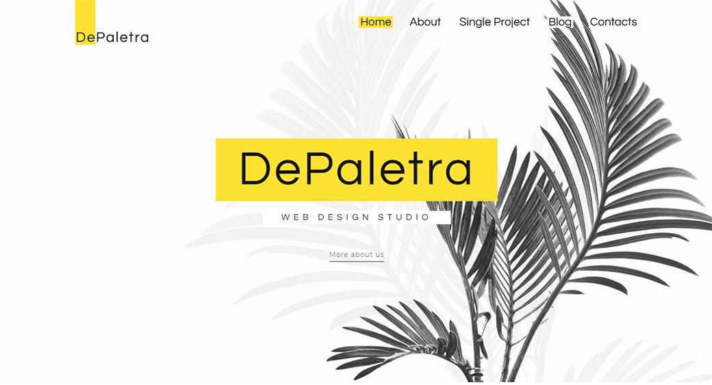 depaletra minimal website design