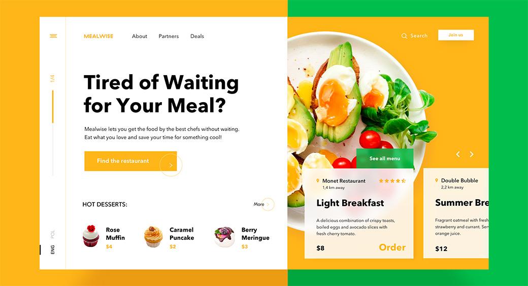 meal delivery website design