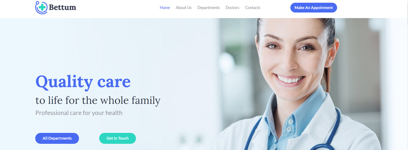 White Medical Website Colors