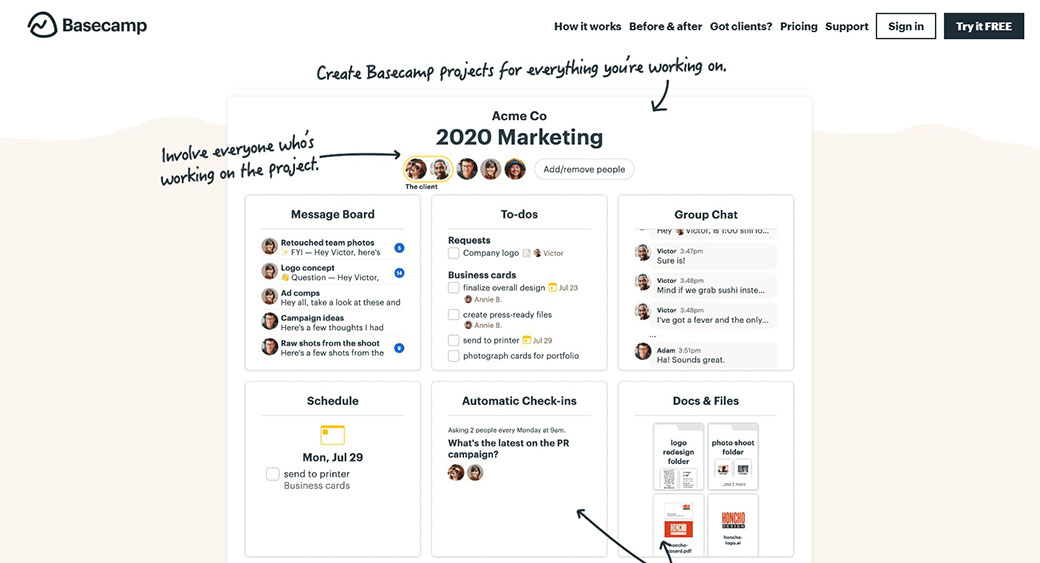 Basecamp as project management software for designers