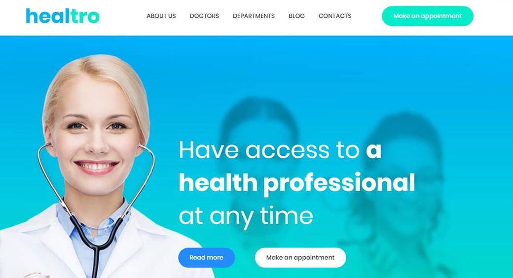 blue hues for medical websites