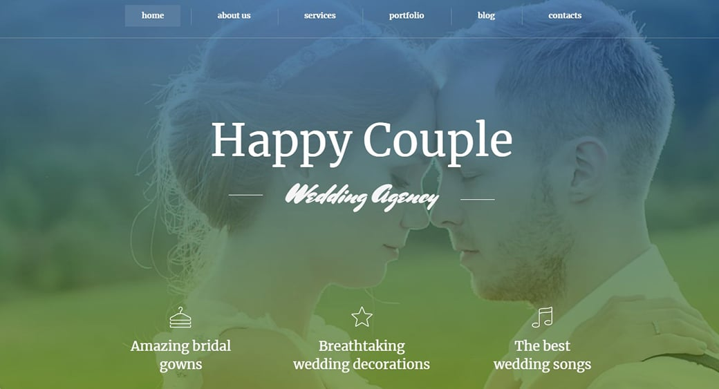 Dating Site Template with a Background Photo image