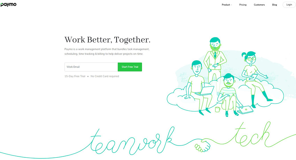 Paymo as project management software for designers