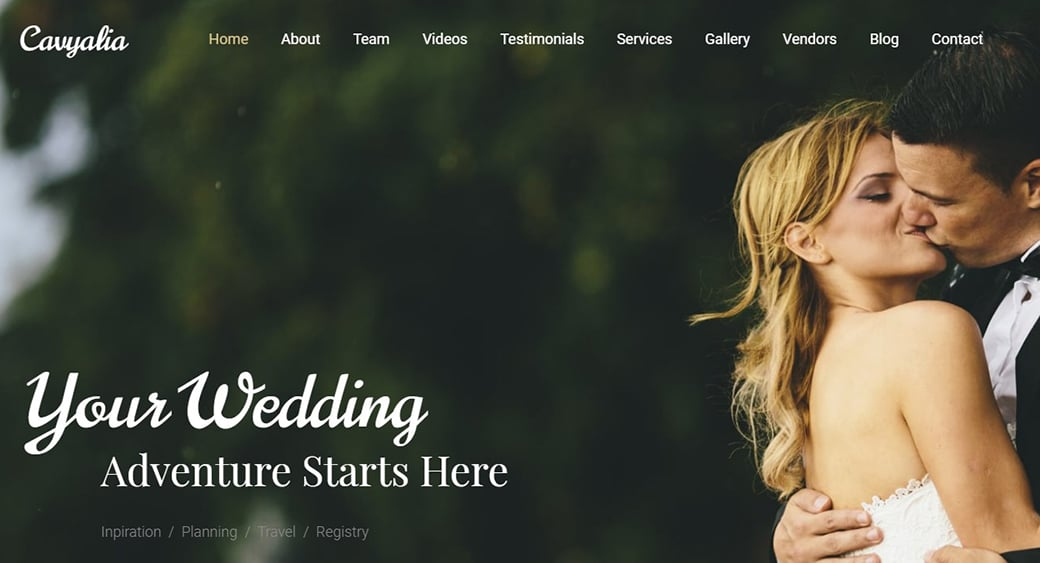 Dating Service Website Template image