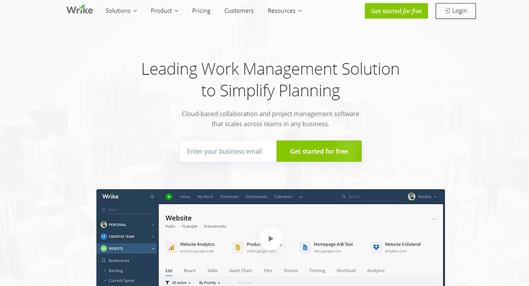 Wrike as a management solution for designers