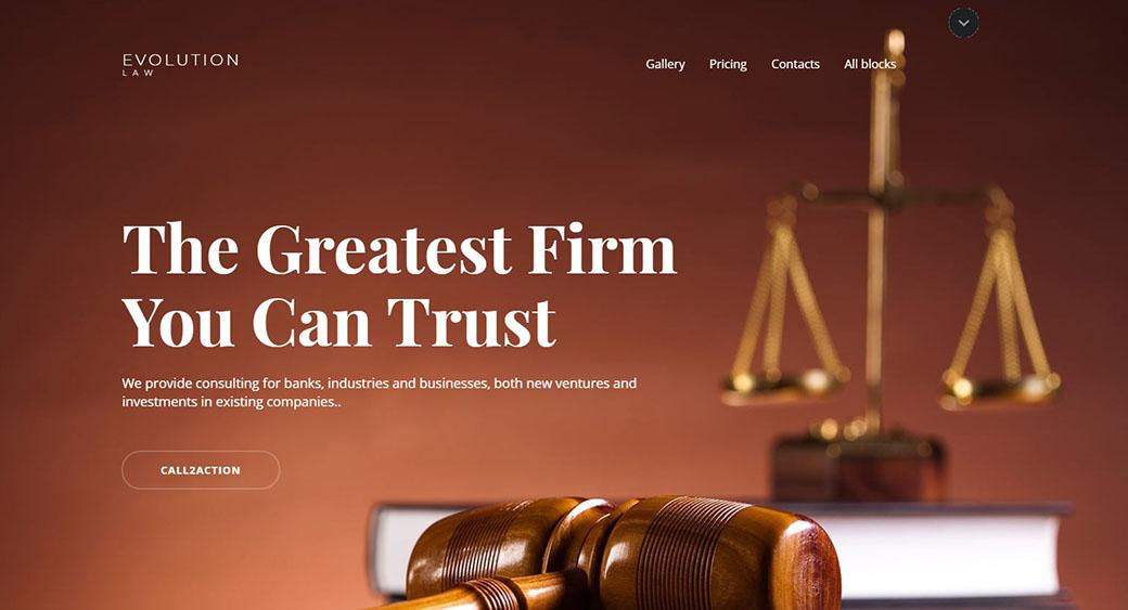 Evolution - law firm web design
