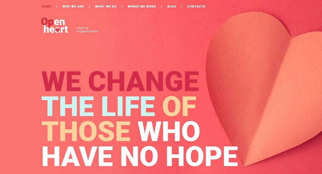 Charity Website Design for Non-Profit Organization