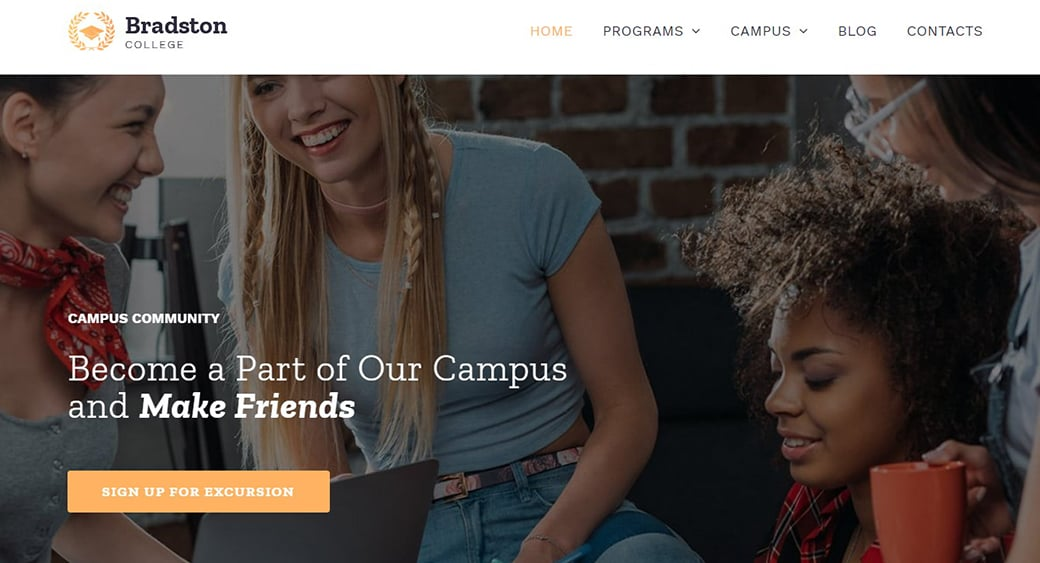 College Website Template for High School Site