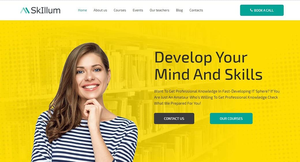 Courses Website Template for E-learning Site
