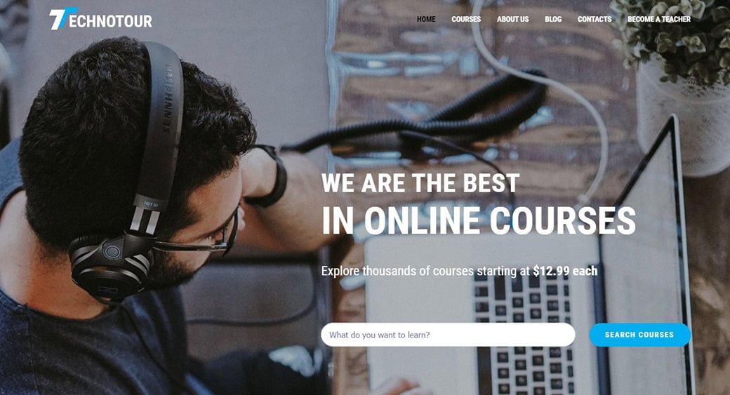 Distance Learning Website Template for Online Courses