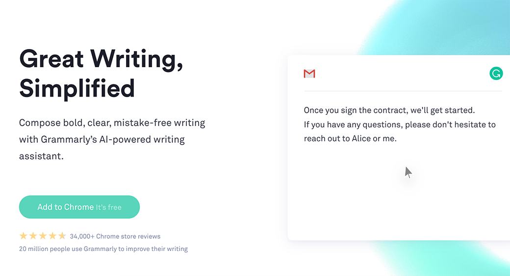 Grammarly website content audit tool