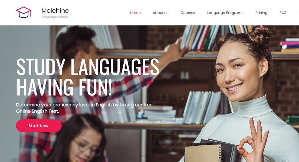 Language School Template for a Foreign Language Center