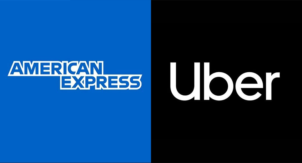 american express and uber simple logo