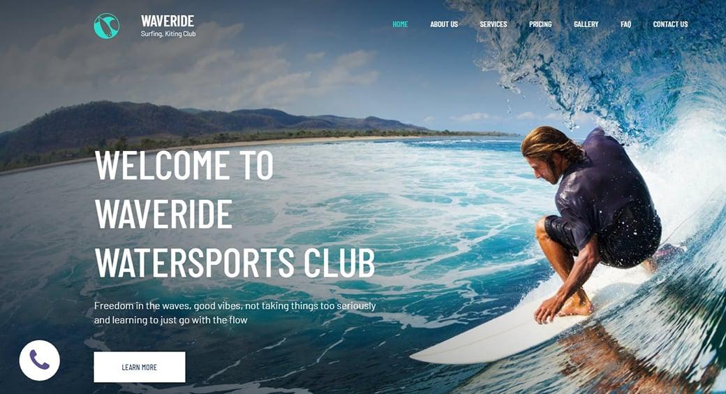background image surfing design
