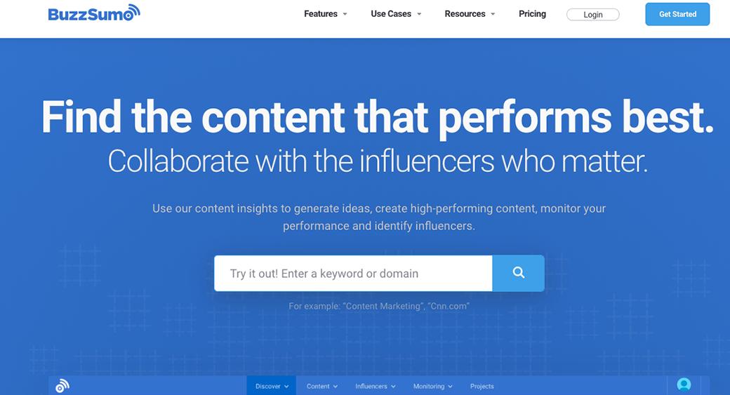 buzzsumo content audit tool
