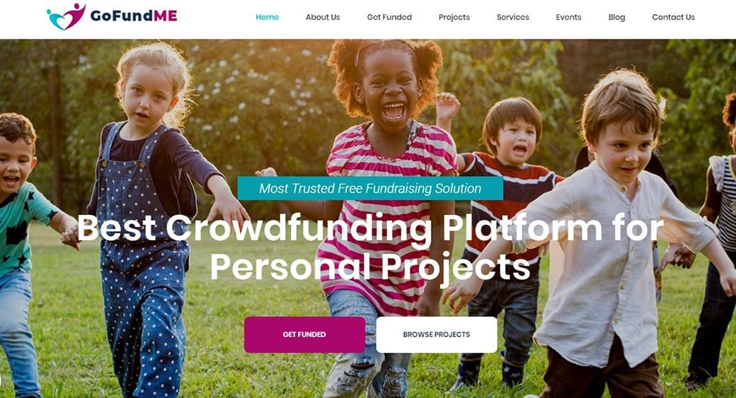 crowdfunding platform website design