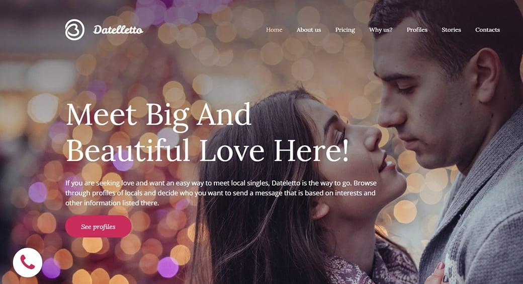 emotional background image dating agency website