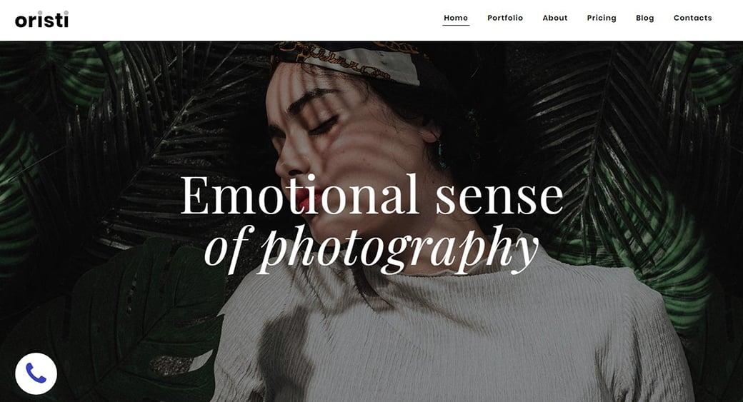 oristi - emotional photography background website