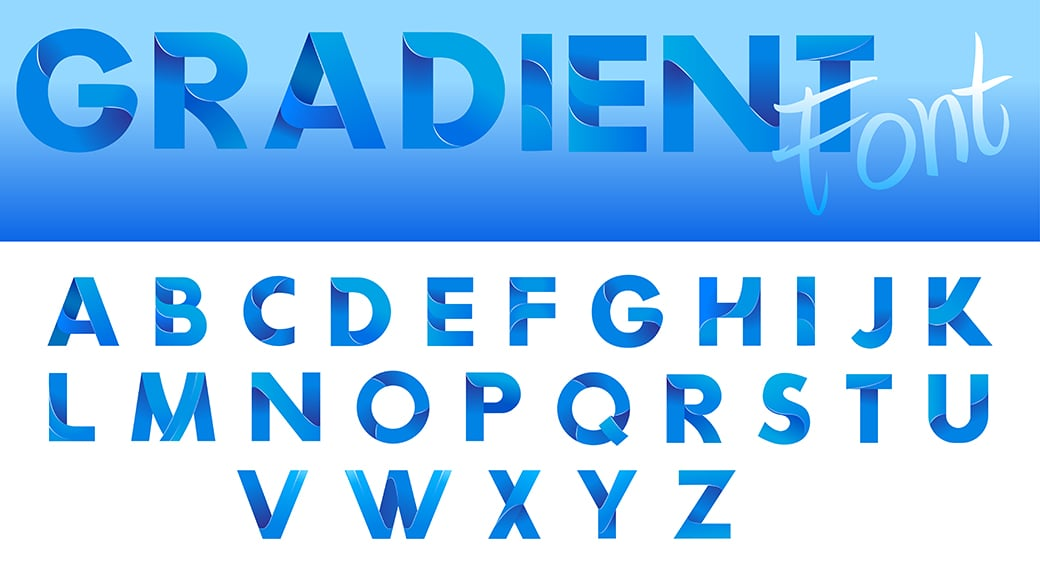 gradient logo and font example