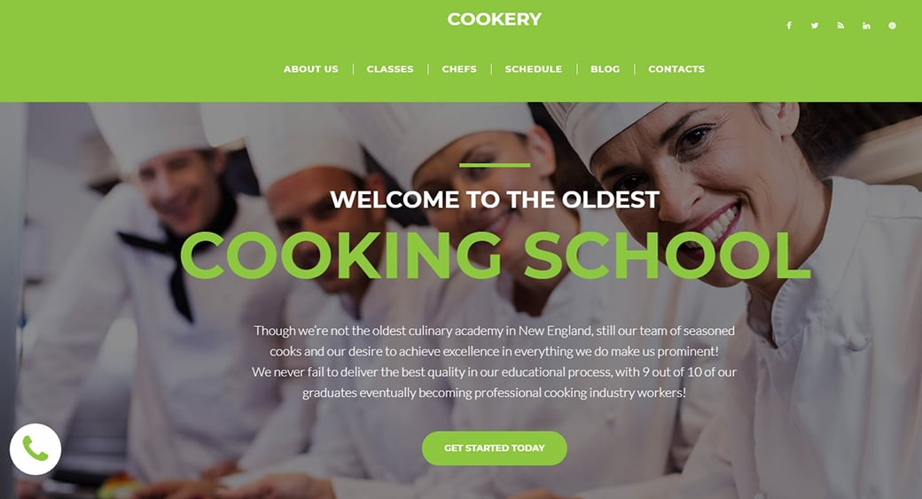 green cooking courses website