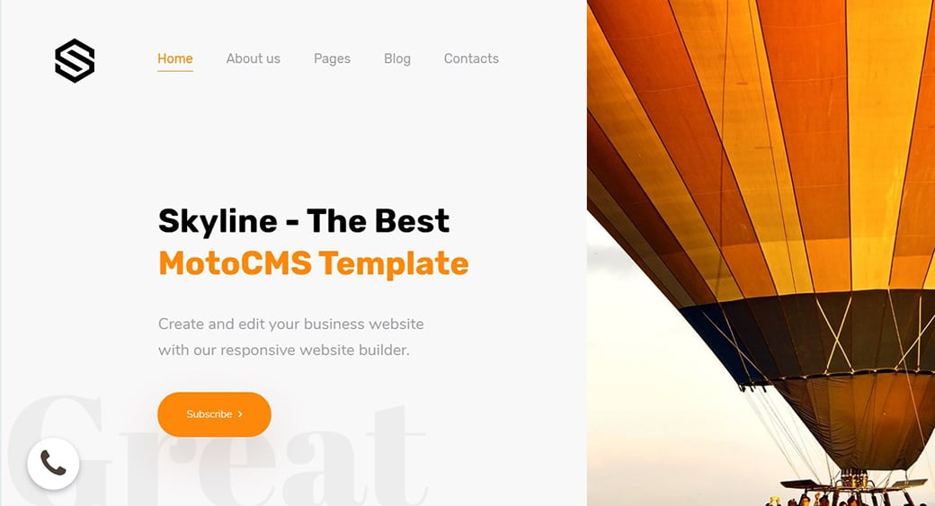 orange and yellow website template