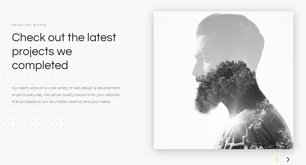 creative studio website slider image