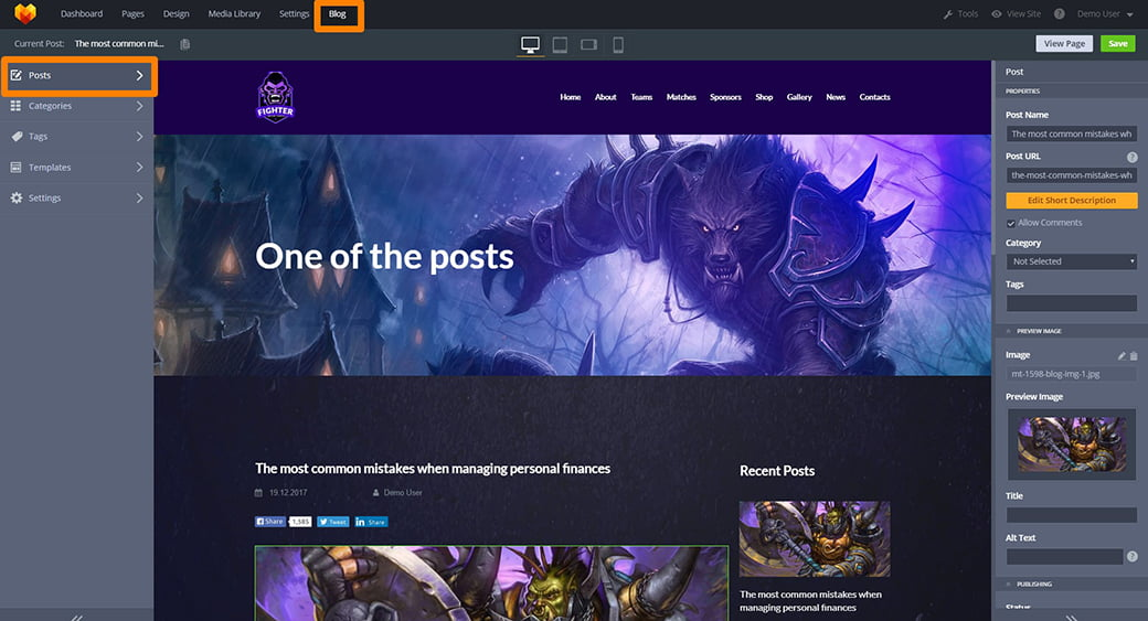 blog of a gaming site