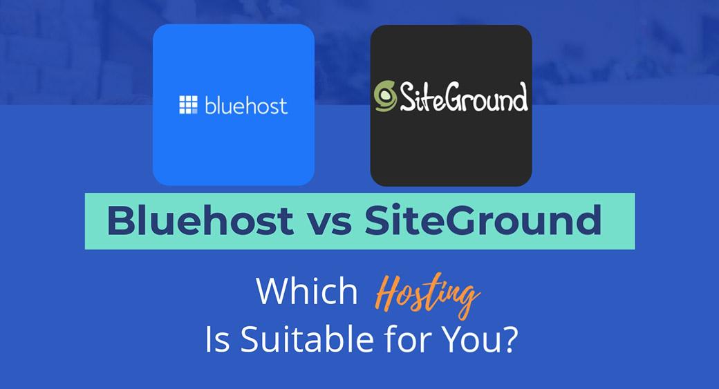 Bluehost vs SiteGround - main image