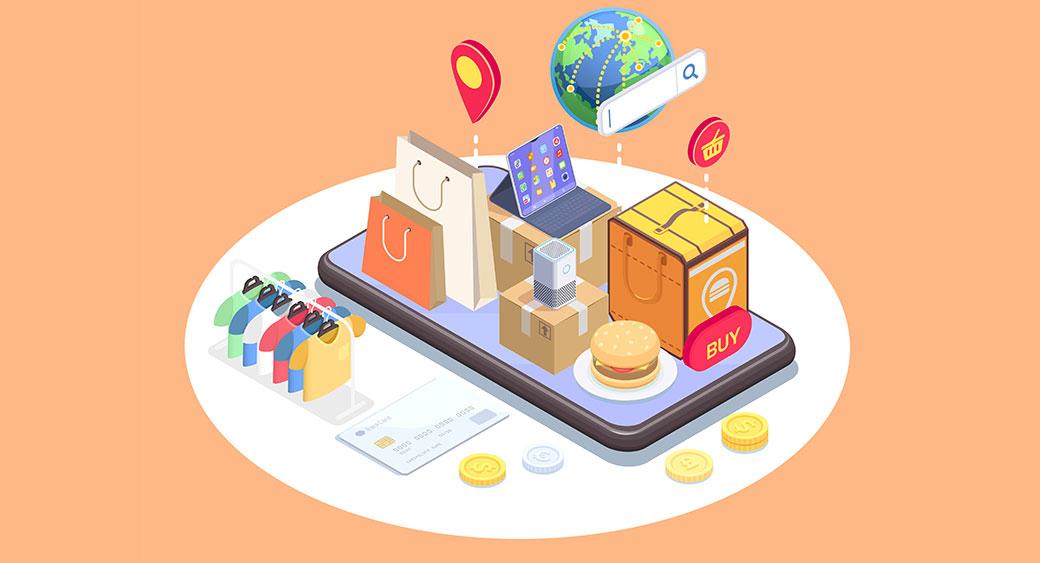 eCommerce vs mCommerce mobile shop