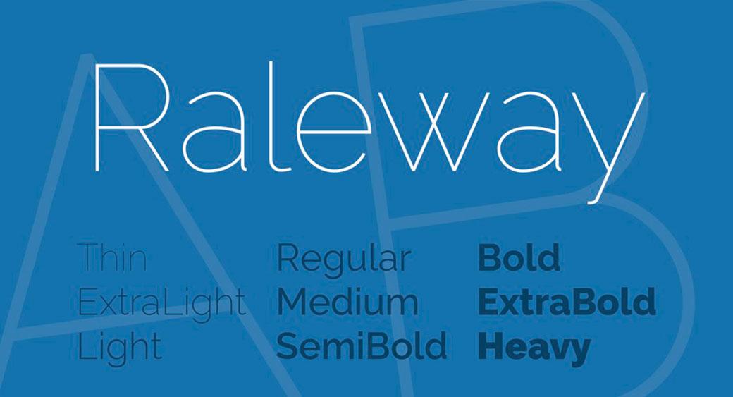 logo design fonts Raleway Font