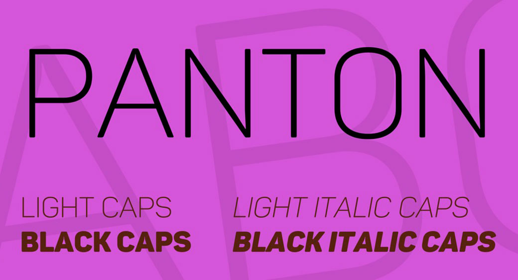 logo design fonts panton